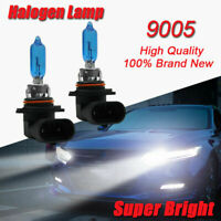 Xenon HID LOOK HB3 9005 100W SUPER WHITE GLOBES 5000K Headlight Fog Light Bulbs