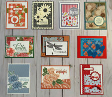 10 Handmade Friendship greeting cards envelopes Stampin' Up! +more
