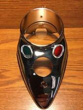 Chrome Cat Eye Dash Panel Cover For Harley Knucklehead