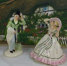 Vintage Signed Gloria Drew Victorian Matching Courting Couple Figurines