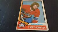 1974-75 O-Pee-Chee Hockey #280 Larry Robinson - Montreal Canadiens - Fair