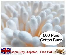 500 x Soft 100% Cotton Buds Baby Make Up Face Painting Cosmetic Facial Ear Swab