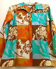 "JUDE CONNALLY LARGE TOP ""BETTY PATCHWORK""  FLORAL PRINT BOLD COLORS"