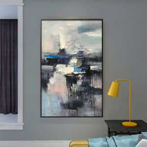"""LL801 Modern Canvas abstract Hand-painted oil painting color art Unframed 36"""""""