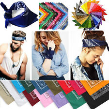 1pc Bandana Tête Enlacement Coton Dacron Paisley Foulard Double Surface Turban