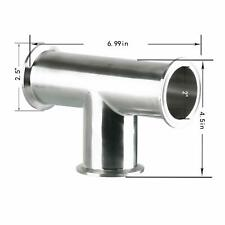 Clamp Tee 3 Way Stainless Steel Sanitary Fitting Fits 2