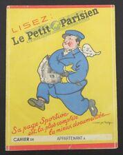 Protège cahier LE PETIT PARISIEN Aviation illustrateur JOE BRIDGE copybook