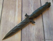 """8.75"""" OVERALL MTECH FIXED BLADE BOOT KNIFE DAGGER DOUBLE EDGE WITH NYLON SHEATH"""