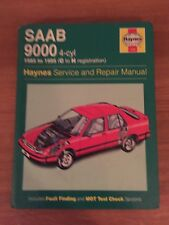 Haynes Manual For Saab 9000. 1985-1995. C-N Registration.