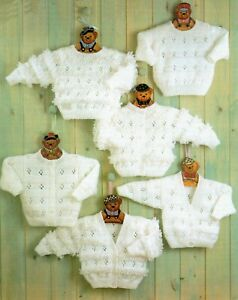 Baby DK Knitting Pattern Cardigan  and Sweaters Sizes 12 -22 inches #106