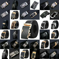Fashion Mens Genuine Leather Belt Automatic Buckle Waistband Belts Waist Strap