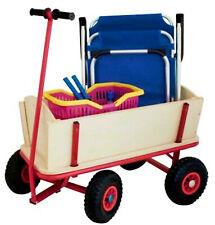 Bollerwagen Holz Kinder Transportwagen Holzbollerwagen