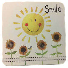 Smile Corked Backed Coaster, Alex Clark, Flowers, Sunshine, Tableware C104