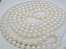 48 INCH AAA 8-9MM WHITE SOUTH SEA Round PEARL NECKLACE
