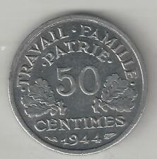 FRANCE,  1944 B,  50 CENTIMES, ALUMINUM,  KM#914.2,  UNCIRCULATED