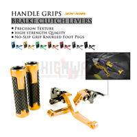 CNC Short Brake Clutch Lever & Handle Grips Bar for KAWASAKI NINJA ZX10R 06-15