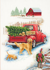 Cross Stitch Kit ~ Dimensions Winter Ride Vintage Farm Scene #70-08971