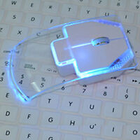 Creative 2.4G Wireless Mouse Ultra-thin Transparent 3 Color LED Mouse