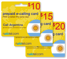 Cheap International calling card for Argentina with emailed PIN