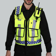 Adjustable Safety Vest High Visibility Reflective Tape with Multi Pockets