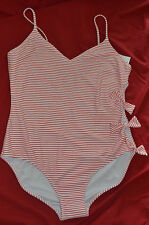SIZE 18 ~ SEXY ONE PIECE BATHERS  ~ STRIPES & BOWS ~ NEW WITH TAGS ~RRP $49