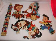 Vintage Dolly Toy Co~Cowboy Indian Pin ups~1950's wall hanging~Smokey and more!!