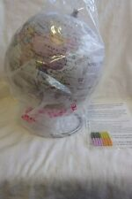 Waypoint Geographic Magneglobe Date World Globe with Stand w/ 32 Magnetic Pins