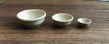 IGMA Artist Jane Graber Dollhouse Miniature Stoneware Nesting Bowl Set (3) 1:12