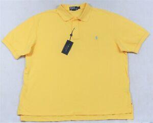 Polo Ralph Lauren Mesh Shirt Yellow 3XLT 4XLT Big Tall NWT
