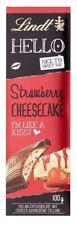 8 x LINDT HELLO CHOCOLATE STRAWBERRY CHEESECAKE 100g - GERMAN CANDIES !