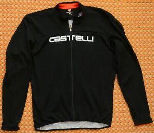 Castelli, long sleeve, black cycling shirt, Adult XL