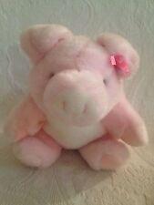 "Rare Vintage 9"" Gund Heads N' Tales Plush Stuffed Girl Pink Pig Cute!!"