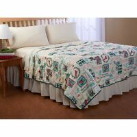 SEASONS GREETINGS CHRISTMAS BIRDS QUILT BEDROOM BEDDING FULL QUEEN KING SIZE NEW