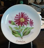 Vintage Ucagco China Japan Signed Hand Painted flower Plate 6.5""
