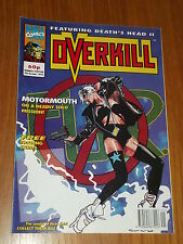 OVERKILL #13 MARVEL BRITISH MAGAZINE 9 OCTOBER 1992 DEATHS HEAD II MOTORMOUTH^