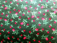 1 yd green floral calico cotton