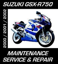 Suzuki GSXR750 GSXR 750 Service Maintenance Repair Rebuild Manual 2000 2001 2002