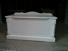 BUCKINGHAM PAINTED PINE SHABBY CHIC WHITE OTTOMAN TRUNK NO FLAT PACK