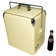 Vintage Cool box PLAIN Cooler CREAM Retro Cooler Retro Coolbox present AAC079