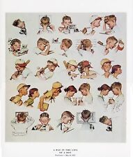 Norman Rockwell Youth Print A DAY IN THE LIFE OF A BOY