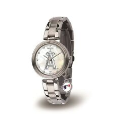 Los Angeles Angels Charm Watch with Stainless Steel Band