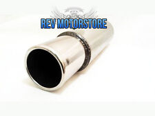 "Universal Exhaust Backbox Stainless Steel Jap Style Silencer Japcan 3"" Tailpipe"