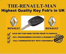 1 Button Remote Key Fob suitable for Renault Clio & Kangoo Brand new  2001-2006