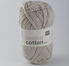 Rico Creative Cotton Aran - 100% Cotton Knitting & Crochet Yarn - Silver Grey 22