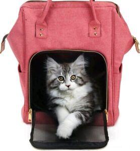 Cat Carrier Backpack Puppy Travel Bag Portable Folding Pet Rabbit Fashion...