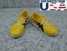 "1/6 Yellow Sports Sneakers For Bruce Lee For 12"" PHICEN Hot Toys Male Figure USA"