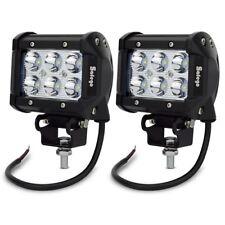 Safego 2X 4inch 18W LED Work Light Bar Spot Beam Offroad Lamp 4X4 TRUCK JEEP 27W