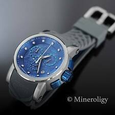 Invicta S1 Rally Blue Dragon Yakuza Chronograph Grey Silicone Strap Mens Watch !