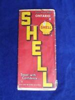 MAP SHELL OIL GAS SERVICE STATION ADVERTISING ONTARIO TRAVEL WITH CONFIDENCE