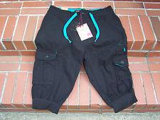 *BRAND-NEW* Decibel DESTROYED & REBUILT Black Cargo Jogger Men's Shorts Size 34W